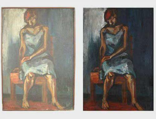 스페셜 (43) – 천과 천을 이어 캔버스로 사용한 작품.